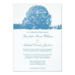 Winter Oak Tree Wedding 5x7 Paper Invitation Card
