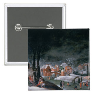 Winter (oil on panel) (see also 166905, 166906, 16 2 inch square button