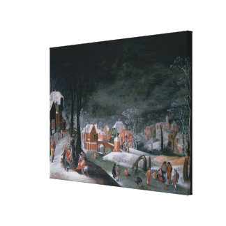 Winter (oil on panel) (see also 166905, 166906, 16 canvas print