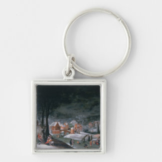 Winter (oil on panel) (see also 166905, 166906, 16 keychain