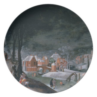 Winter (oil on panel) (see also 166905, 166906, 16 plate