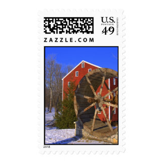 winter old mill Postage
