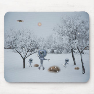 WINTER ON EARTH MOUSE PAD
