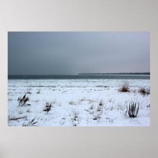 Winter on Lake Huron Poster