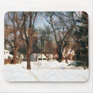Winter on My Street Mouse Pad