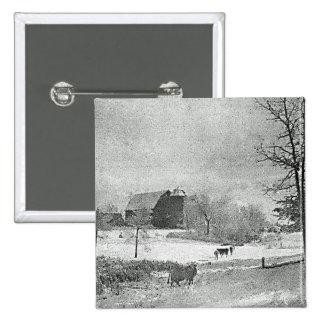 Winter on the Farm Button
