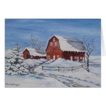 Winter on the Farm Card