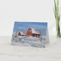 Winter on the Farm Holiday Card