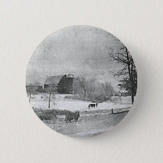 Winter on the Farm Pinback Button