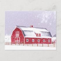 Winter on the Farm Postcard