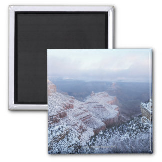 Winter on the South Rim, Grand Canyon National 2 Inch Square Magnet