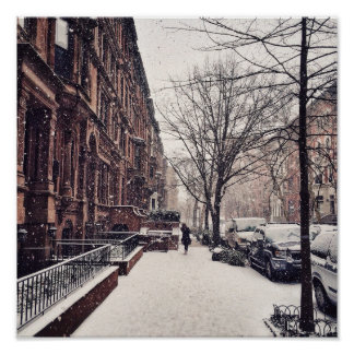 Winter On The Upper West Side Poster