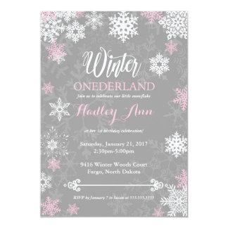 Winter Onderland First Birthday Invitation