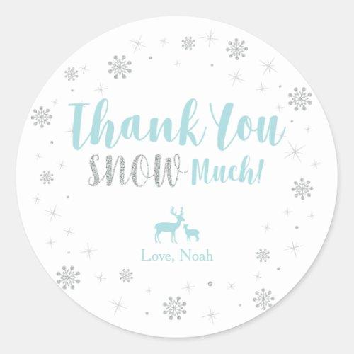 Winter onderland Thank you snow much sticker