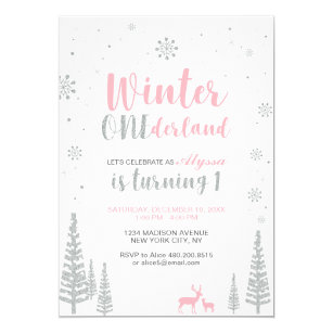 winter birthday invitations zazzle
