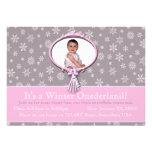 Winter Onederland 1st Birthday Snowflakes Invitations