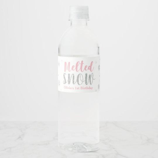 Winter Onederland 1st Birthday Water Bottle Label Zazzle Com