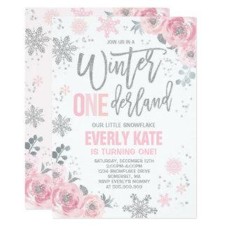 Pixelperfectionpartyltd designs collections on zazzle winter onederland birthday invitation pink silver filmwisefo