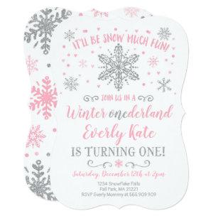 Winter Onederland Invitations 1st Birthday Party Inspiration Zazzle