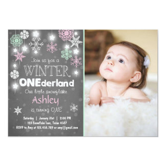 Winter Onederland Birthday Invitations & Announcements | Zazzle