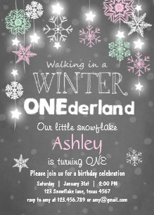 winter onederland party invitations zazzle