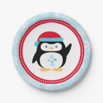 Winter ONEderland Birthday | Penguin Paper Plate