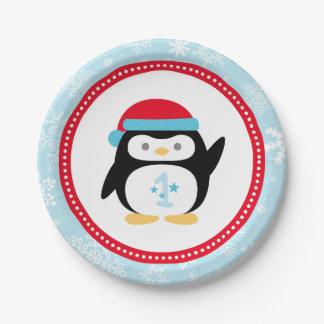 Winter ONEderland Birthday | Penguin Paper Plate