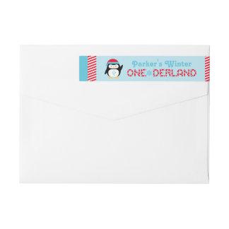 Winter ONEderland Birthday | Penguin Wrap Around Label
