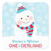 Winter ONEderland Birthday | Snowman Sticker
