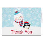 Winter ONEderland Birthday | Thank You Folded Stationery Note Card