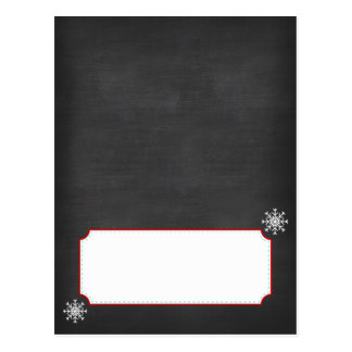 Winter ONEderland Chalkboard Buffet Cards