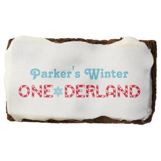 Winter ONEderland | Custom Birthday Rectangular Brownie