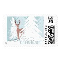Winter Onederland First Birthday Postage Deer
