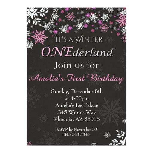 Winter ONEderland Invitation, First, 1st Birthday Card