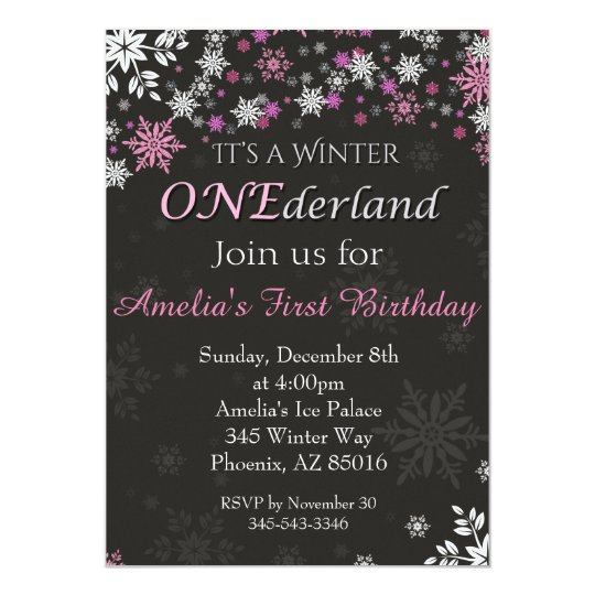 Winter Onederland Birthday Invitations is amazing invitation sample