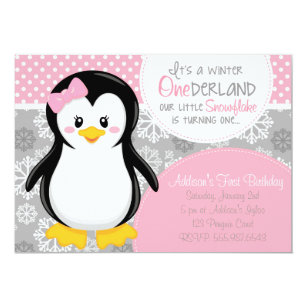 Penguin Birthday Invitations Zazzle