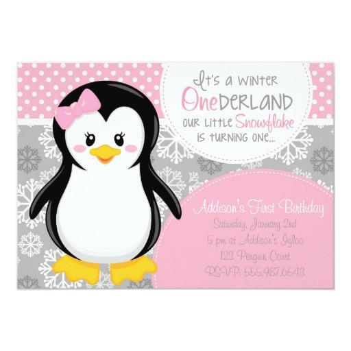 Winter Onederland Invitation for perfect invitation template