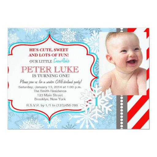 Winter Onederland Invitation as great invitations sample