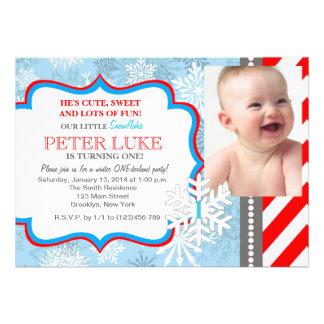 Winter ONEderland Snowflake 1st Birthday Invite