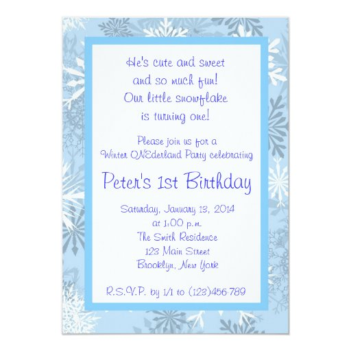 Winter Onederland Invitation for great invitation sample