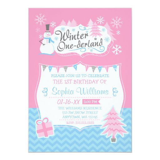 Winter Onederland Invitation was perfect invitation layout