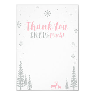 Winter Onederland - Thank you note card