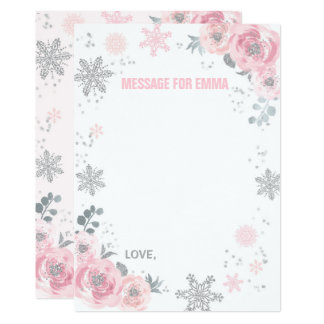 Winter ONEderland Time Capsule Note Card Guestbook