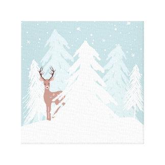 Winter Onederland Wonderland Deer Canvas Print