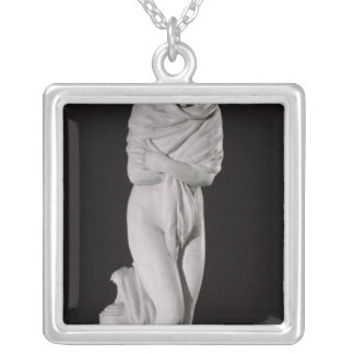 Winter, or The Chilly Woman Square Pendant Necklace