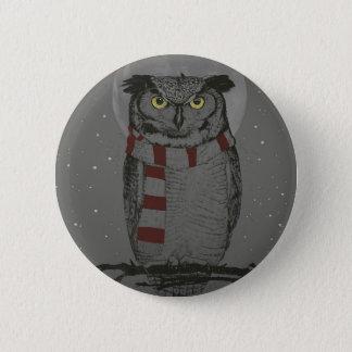 Winter owl button