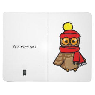 winter owl cartoon journal