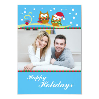 Winter Owl Holiday Photo Card