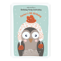 Winter Owl Invitation