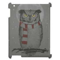 Winter owl iPad cover